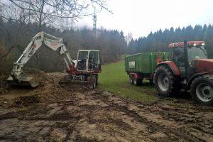 Baggerarbeiten / Erdarbeiten durch die Fa. Otto in Siegen